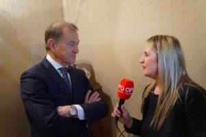 Ex allenatore dell'Albania Gianni De Biasi con la tv albanese
