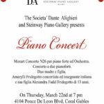 """""""Piano Concert"""" alla Dante di Miami"""