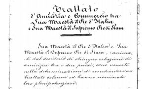 trattato 1868 Italia thailandia