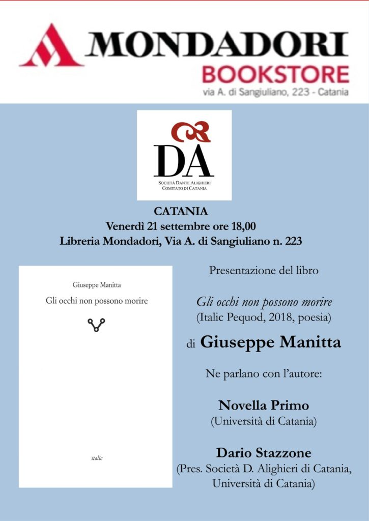 Locandina Manitta 21 09 2018