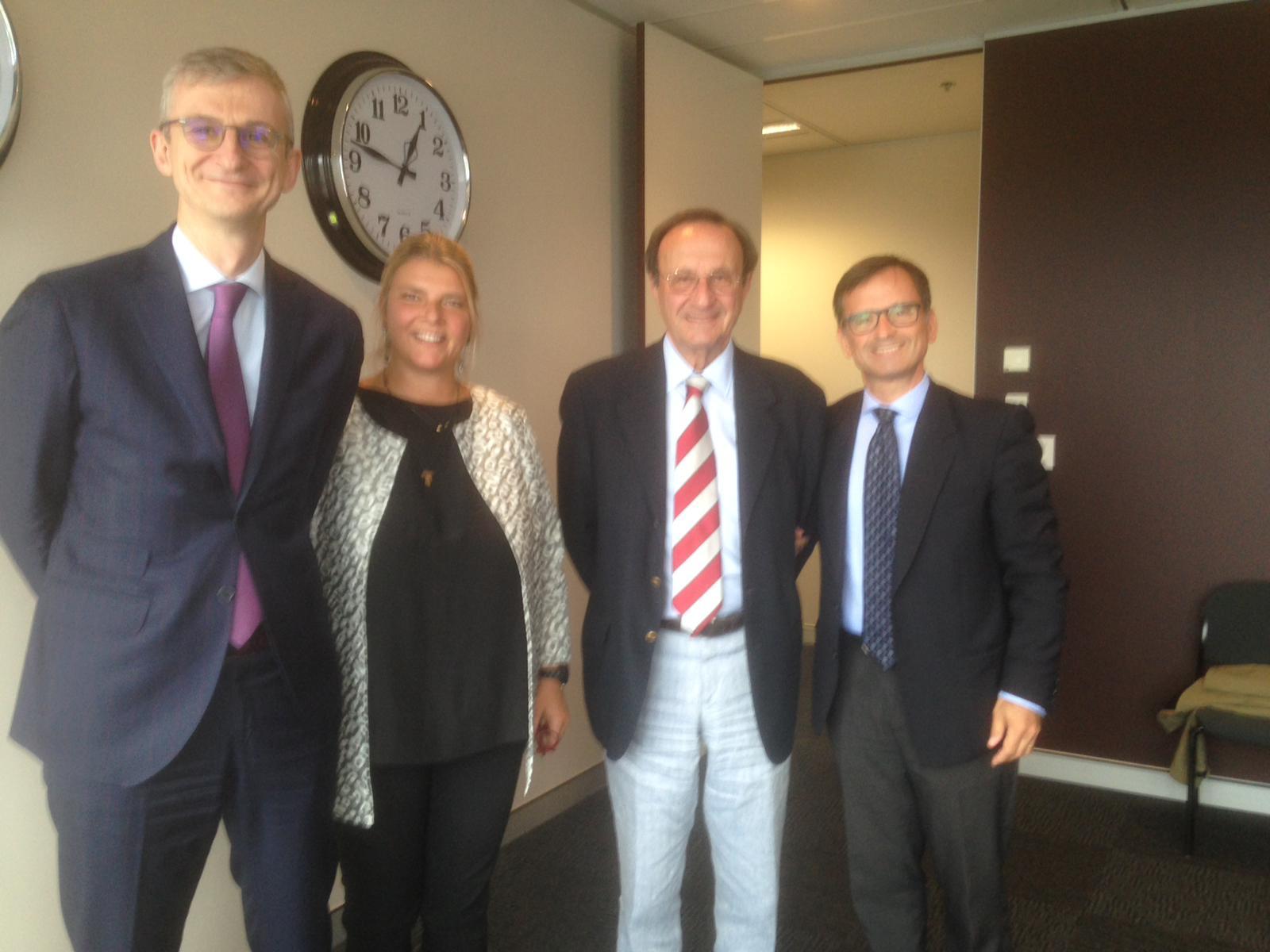 con l'ambasciatore Stefano Gatti