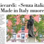 Avvenire, Riccardi: «Senza italiano il Made in Italy muore»