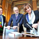 VIDEO La Presidente del Consiglio Nazionale svizzero Marina Carobbio in visita ufficiale alla Dante