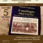 """Presentazione del libro """"Il Naufragio previsto"""""""