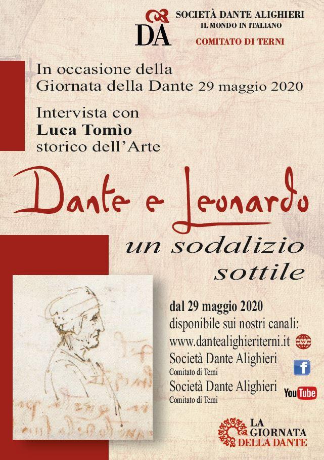 Dante e Leonardo un sodalizio gentile locandina bassa risoluzione