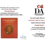 Per i Giovedì virtuali della Dante di Torino, incontro con lo scrittore Antonio Osnato
