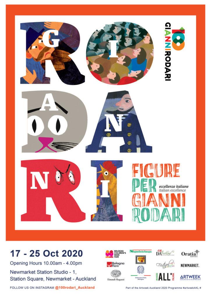 Figure per Gianni Rodari   Poster Auckland A3