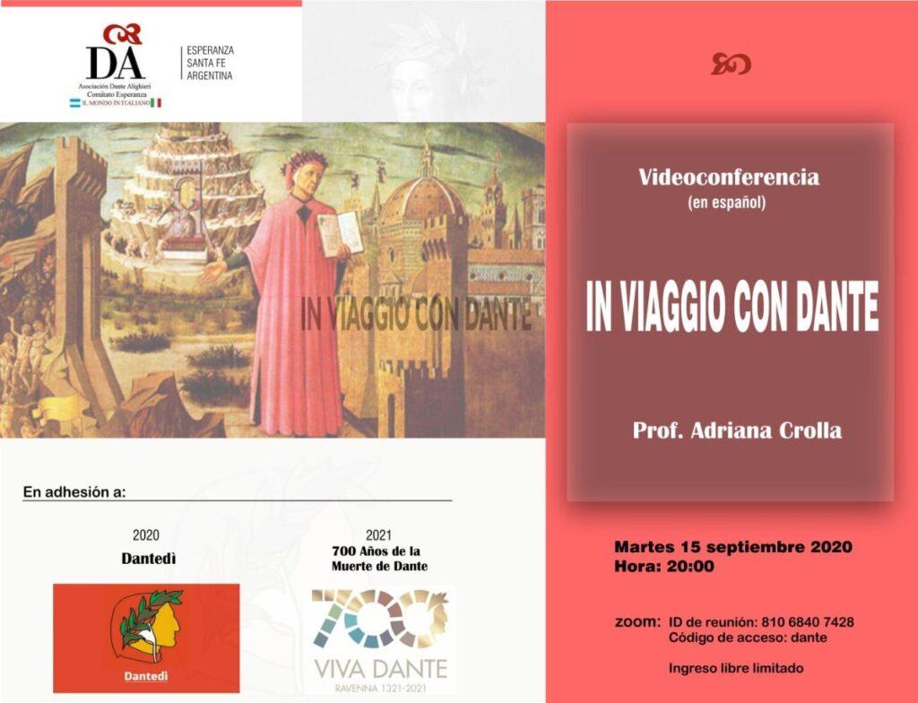 Locandina Conferenza  In viaggio con Dante