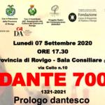 DANTE 700 Prologo dantesco
