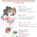 La XX Settimana della lingua italiana  in Portogallo