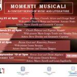 Momenti Musicali. Una serie di concerti di musica e letteratura