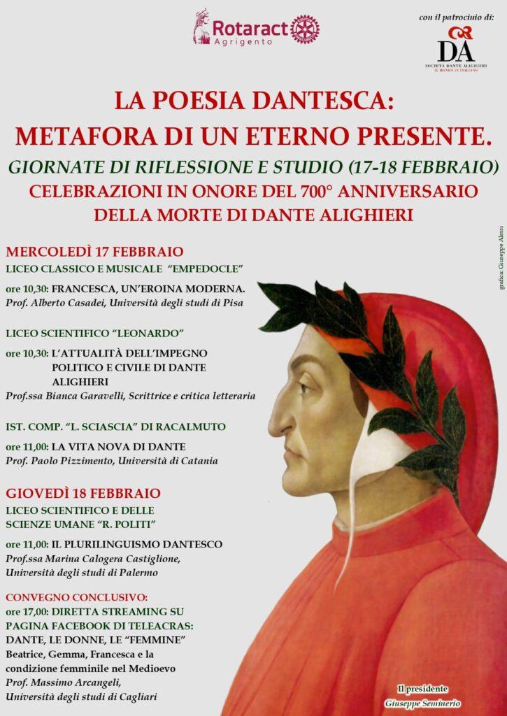 Giornate di studio e riflessione su Dante Alighieri
