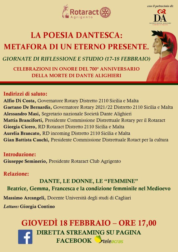 Invito conferenza Dante