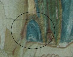 fg. 4 lupo dalla cui bocca fuori esce una figura