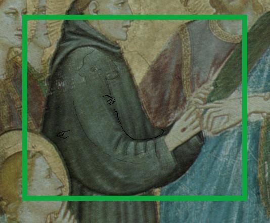 foto 3 agnello sul braccio di Francesco