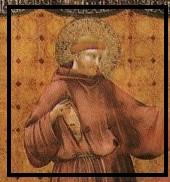 Fig. 12 Giotto San Francesco appare a Gregorio IX un lupo nel grembo del Santo.