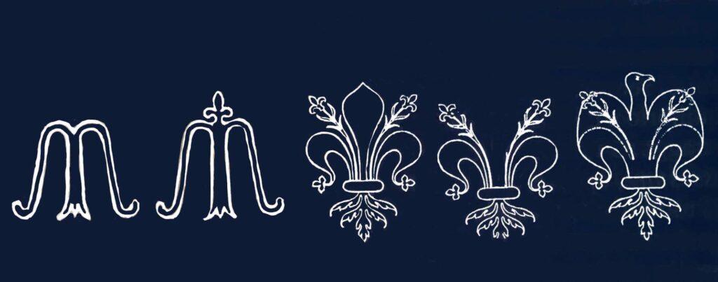 il simbolo del giglio emblema della Madonna povertà.e della doppia aquilaJPG